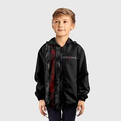 Ветровка с капюшоном детская God of War: Black Style цвета 3D-черный — фото 2