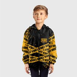 Ветровка с капюшоном детская PUBG: Only Winner цвета 3D-черный — фото 2