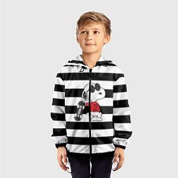 Ветровка с капюшоном детская Vans Doggy цвета 3D-черный — фото 2