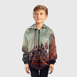 Ветровка с капюшоном детская Valheim викинги цвета 3D-черный — фото 2