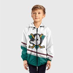 Ветровка с капюшоном детская Anaheim Ducks Selanne цвета 3D-черный — фото 2