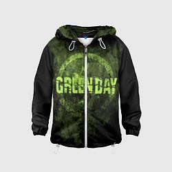 Ветровка с капюшоном детская Green Day: Acid Voltage цвета 3D-белый — фото 1