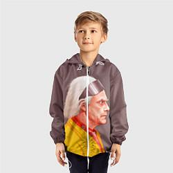 Ветровка с капюшоном детская Доктор Браун цвета 3D-белый — фото 2