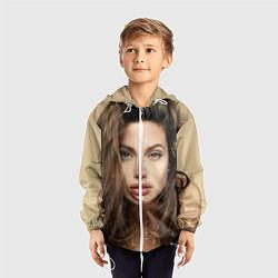 Ветровка с капюшоном детская Анжелина Джоли цвета 3D-белый — фото 2