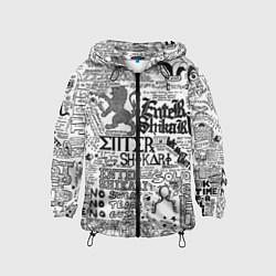 Ветровка с капюшоном детская Enter Shikari: Words цвета 3D-черный — фото 1