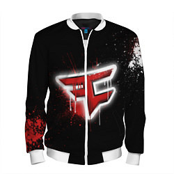 Бомбер мужской FaZe Clan: Black collection цвета 3D-белый — фото 1