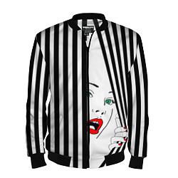Бомбер мужской Pop art girl цвета 3D-черный — фото 1