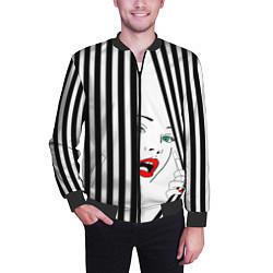 Бомбер мужской Pop art girl цвета 3D-черный — фото 2