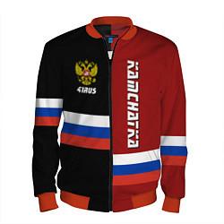 Бомбер мужской Kamchatka, Russia цвета 3D-красный — фото 1