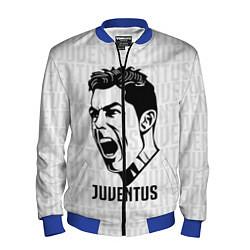 Бомбер мужской Juve Ronaldo цвета 3D-синий — фото 1