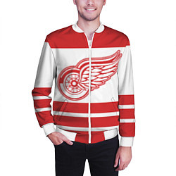 Бомбер мужской Detroit Red Wings цвета 3D-белый — фото 2