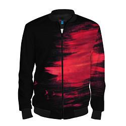 Бомбер мужской Краска цвета 3D-черный — фото 1