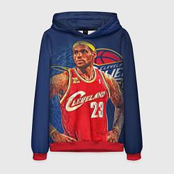 Толстовка-худи мужская LeBron 23: Cleveland цвета 3D-красный — фото 1