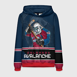 Толстовка-худи мужская Colorado Avalanche цвета 3D-красный — фото 1
