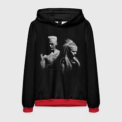 Толстовка-худи мужская Die Antwoord: Black цвета 3D-красный — фото 1