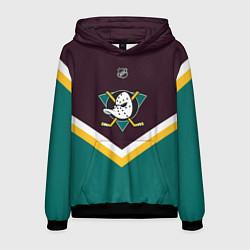 Толстовка-худи мужская NHL: Anaheim Ducks цвета 3D-черный — фото 1