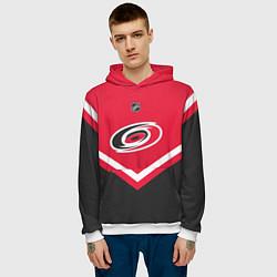 Толстовка-худи мужская NHL: Carolina Hurricanes цвета 3D-белый — фото 2