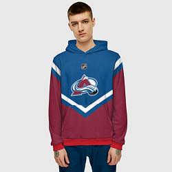 Толстовка-худи мужская NHL: Colorado Avalanche цвета 3D-красный — фото 2