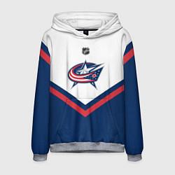 Толстовка-худи мужская NHL: Columbus Blue Jackets цвета 3D-меланж — фото 1