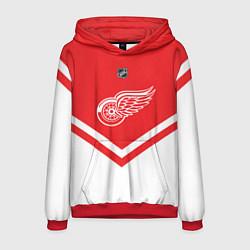 Толстовка-худи мужская NHL: Detroit Red Wings цвета 3D-красный — фото 1