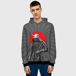 Толстовка-худи мужская Мертвый самурай цвета 3D-черный — фото 2