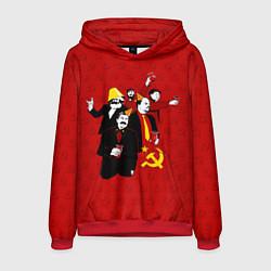 Толстовка-худи мужская Communist Party цвета 3D-красный — фото 1