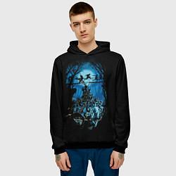 Толстовка-худи мужская Zombie Island цвета 3D-черный — фото 2