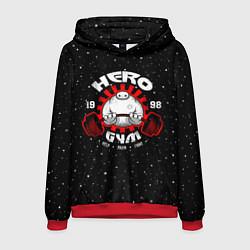 Толстовка-худи мужская Hero Gym цвета 3D-красный — фото 1