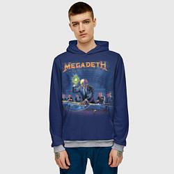 Толстовка-худи мужская Megadeth: Rust In Peace цвета 3D-меланж — фото 2