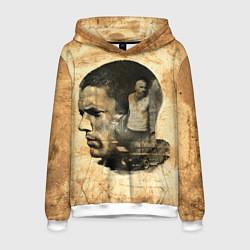 Толстовка-худи мужская Prison Break: Scofield Art цвета 3D-белый — фото 1