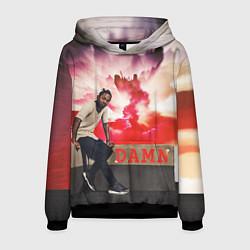 Толстовка-худи мужская Kendrick DAMN цвета 3D-черный — фото 1