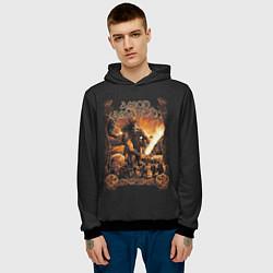 Толстовка-худи мужская Amon Amarth: Dark warrior цвета 3D-черный — фото 2