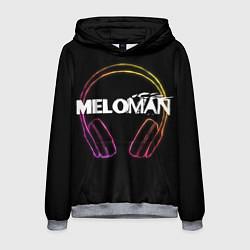 Толстовка-худи мужская Meloman цвета 3D-меланж — фото 1