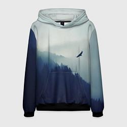 Толстовка-худи мужская Орел над Лесом цвета 3D-черный — фото 1