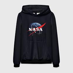 Толстовка-худи мужская NASA: Black Space цвета 3D-черный — фото 1