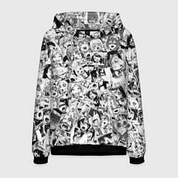 Толстовка-худи мужская Ahegao: Black & White цвета 3D-черный — фото 1