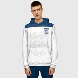 Толстовка-худи мужская Сборная Англии цвета 3D-белый — фото 2