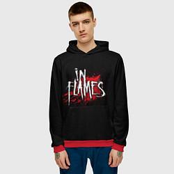 Толстовка-худи мужская In Flames цвета 3D-красный — фото 2