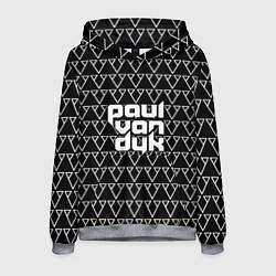 Толстовка-худи мужская Paul Van Dyk цвета 3D-меланж — фото 1
