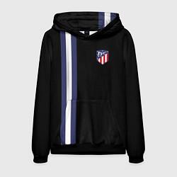 Толстовка-худи мужская FC Atletico Madrid: Blue Line цвета 3D-черный — фото 1