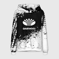 Толстовка-худи мужская Daewoo: Black Spray цвета 3D-белый — фото 1