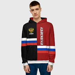 Толстовка-худи мужская Kamchatka, Russia цвета 3D-белый — фото 2