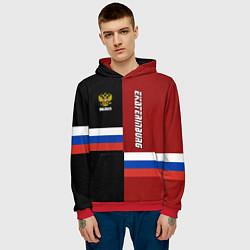 Толстовка-худи мужская Ekaterinburg, Russia цвета 3D-красный — фото 2