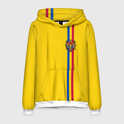 Толстовка-худи мужская Молдавия: лента с гербом цвета 3D-белый — фото 1