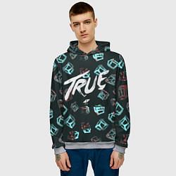 Толстовка-худи мужская Avicii: True цвета 3D-меланж — фото 2