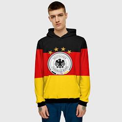 Толстовка-худи мужская Немецкий футбол цвета 3D-черный — фото 2