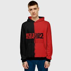 Толстовка-худи мужская RDD 2: Black & Red цвета 3D-черный — фото 2