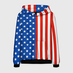 Толстовка-худи мужская American Patriot цвета 3D-черный — фото 1