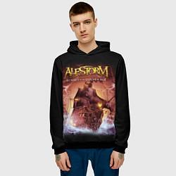 Толстовка-худи мужская Alestorm: Golden Ship цвета 3D-черный — фото 2