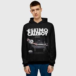 Толстовка-худи мужская Eskimo Callboy: Crystalis цвета 3D-черный — фото 2